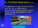 iv prohibited applications cont5