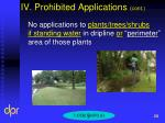 iv prohibited applications cont7