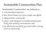 sustainable communities plan