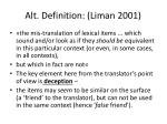 alt definition liman 2001