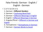 false friends german english english german