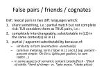false pairs friends cognates