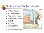 ombudsman contact details