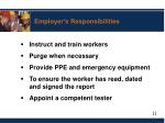employer s responsibilities