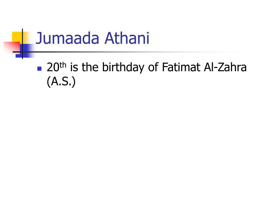 Jumaada Athani