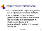 interpersonal performance