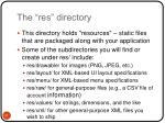 the res directory