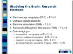 studying the brain research methods