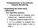 fundamentals to accelerate volume rendering4