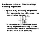 implementation of discrete ray casting algorithm1
