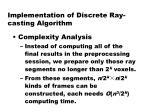 implementation of discrete ray casting algorithm10
