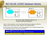 no glue logic between blocks