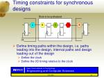 timing constraints for synchronous designs