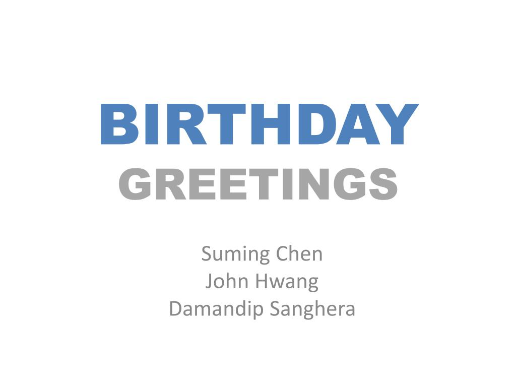 birthday greetings l.