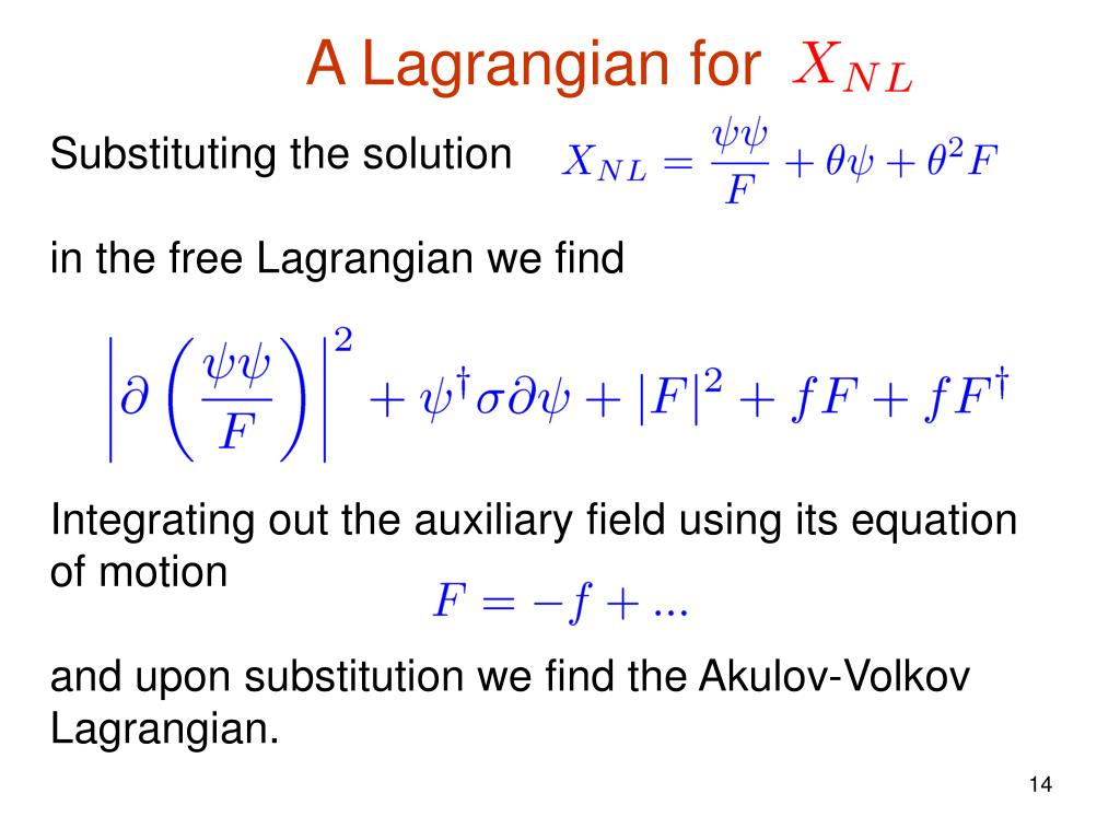 A Lagrangian for