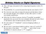 birthday attacks on digital signatures
