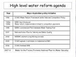 high level water reform agenda