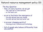 natural resource management policy 101
