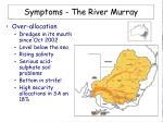 symptoms the river murray