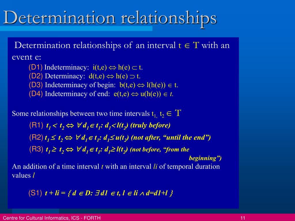 Determination relationships