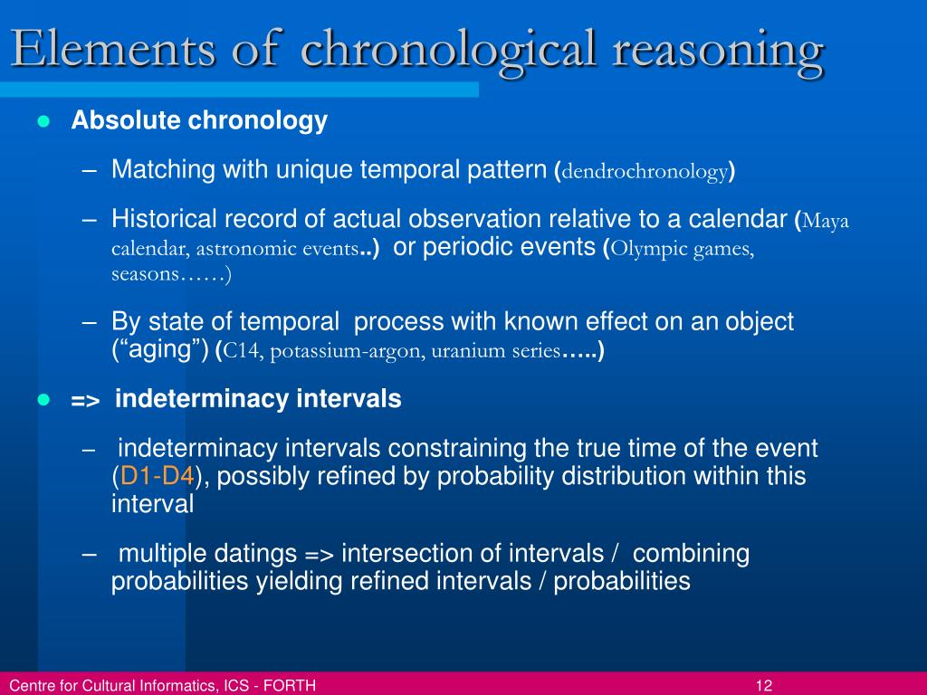 Elements of chronological reasoning