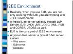 j2ee environment