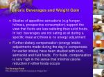 caloric beverages and weight gain