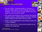 level 2 tea and coffee