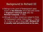 background to richard iii