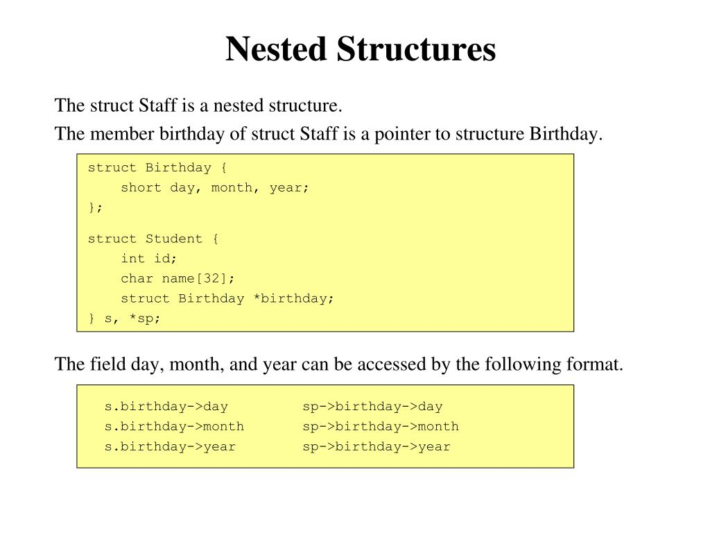 Nested Structures