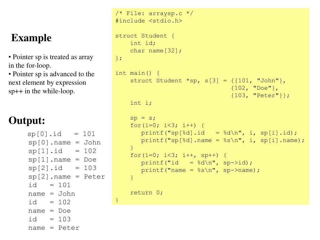 /* File: arraysp.c */