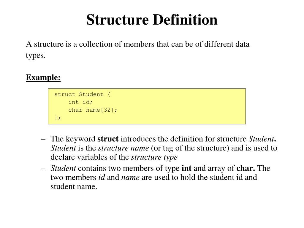 Structure Definition