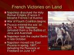 french victories on land