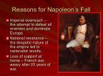 reasons for napoleon s fall