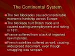 the continental system1
