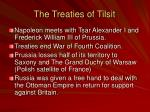 the treaties of tilsit