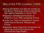 war of the fifth coalition 1809