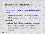 structures as arguments