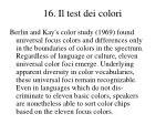 16 il test dei colori