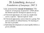 20 lenneberg biological foundations of language 1967 i
