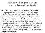 45 universali linguist e gramm generale competenza linguist
