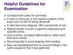 helpful guidelines for examination