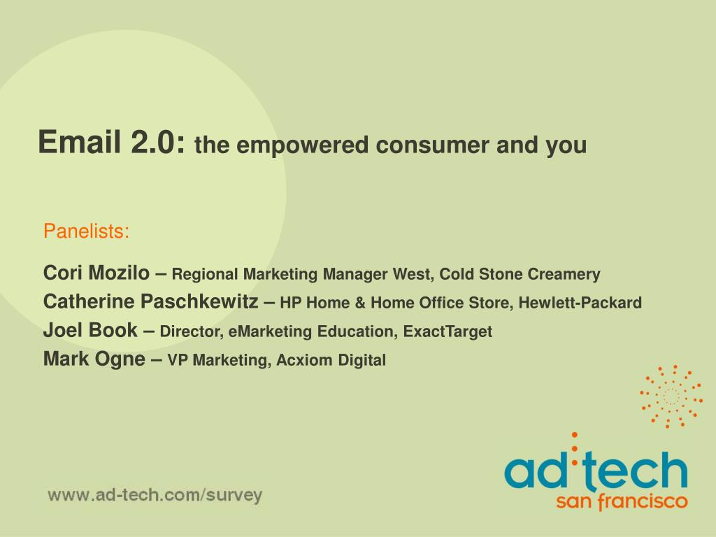email 2 0 the empowered consumer and you l.