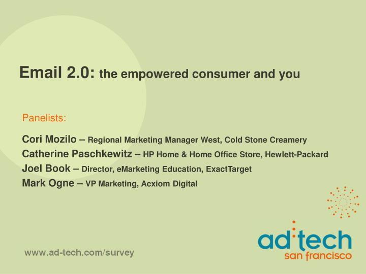 Email 2 0 the empowered consumer and you