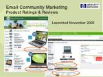 email community marketing product ratings reviews