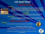 les sanctions