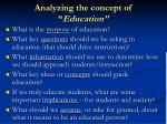 analyzing the concept of education