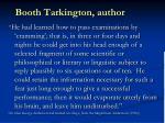 booth tarkington author