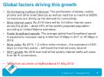 global factors driving this growth