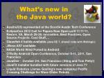 what s new in the java world